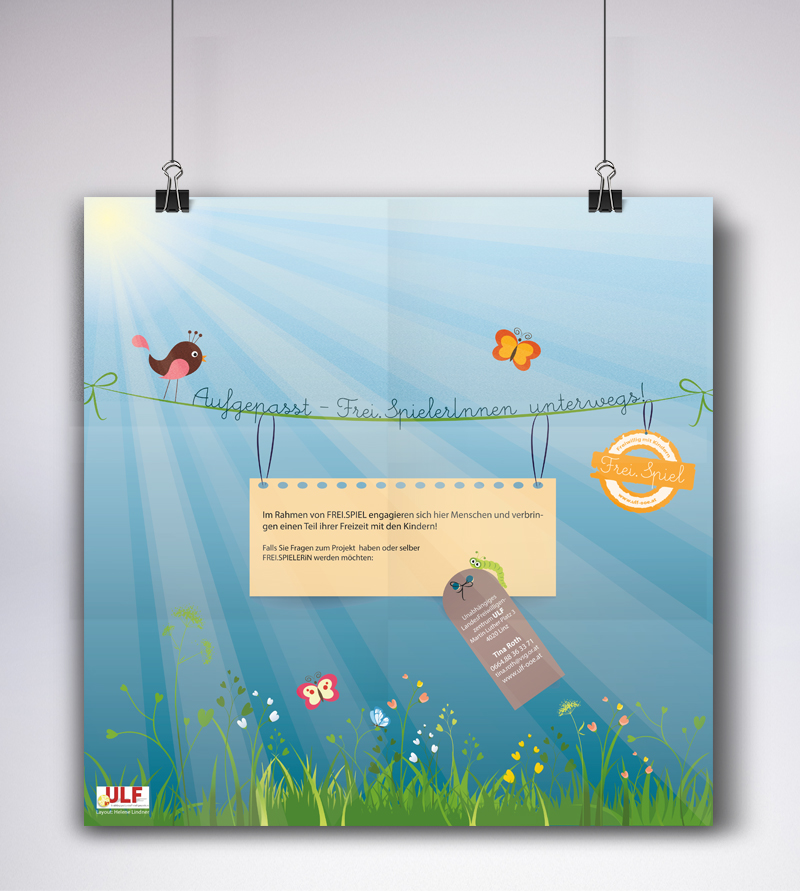 Plakat für das Projekt FREI.SPIEL des VSG ULF