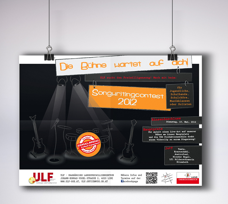 "Plakat ""Songwritingcontest 2012"""
